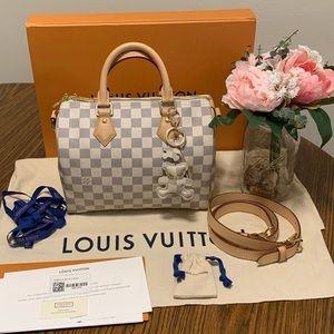Louis Vuitton Damier Azur Speedy 25 Bandouliere